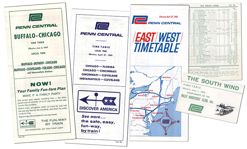 Penn Central Timetables