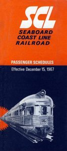 SCL Timetable 1967
