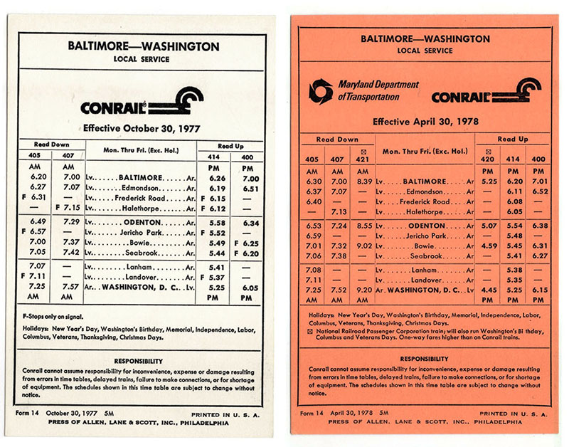 Baltimore-Washington Conrail