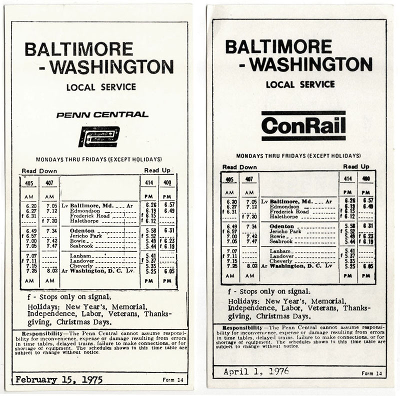 Baltimore-Washington Penn Central